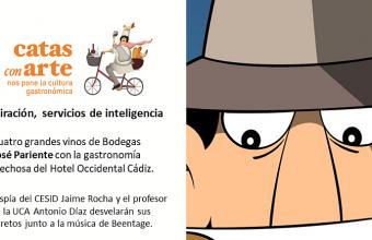 26 de octubre. Cádiz. Cata con arte sobre Espías