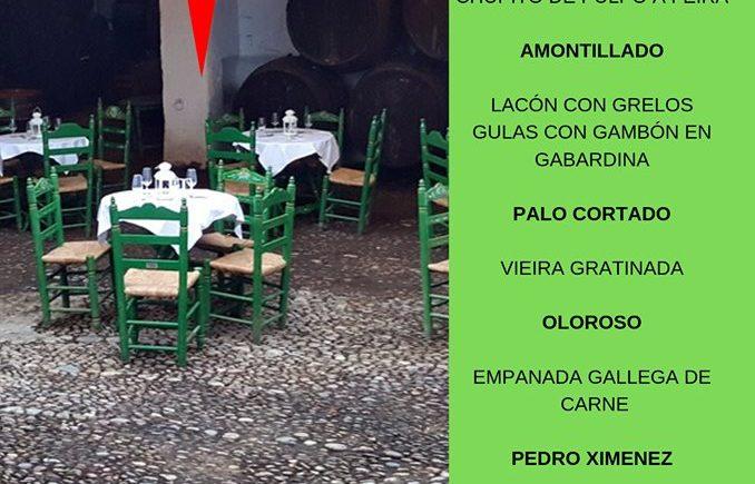 Cata maridaje de Santiago en Bodegas Faustino González