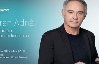 29 de junio. Cádiz. Conferencia de Ferran Adrià