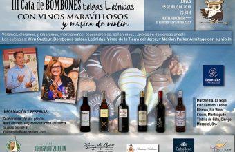 Cata de bombones belgas con vinos y música de violín