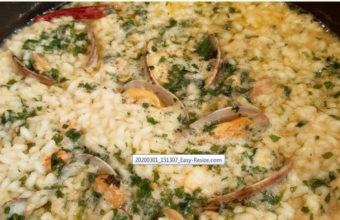 El arroz en salsa verde de Cervecería La Marea