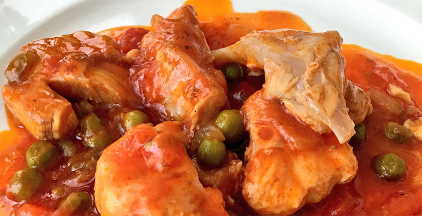 La fritada de cazón con tomate de la Venta Melchor