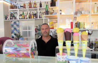 Los helados de frutas de la heladería Avenida