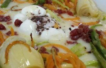 Los huevos poché con espárragos del restaurante La Divina