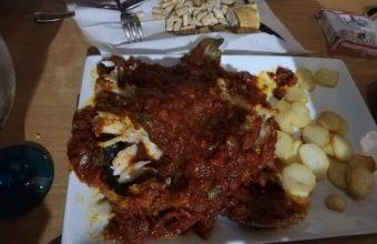El bacalao con tomate del restaurante Los Esteros
