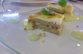 El milhojas de foie y perdiz del restaurante El Duque
