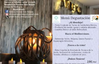 Noche de velas y menú degustación en Innicia Strexo San Roque el día 3 de octubre
