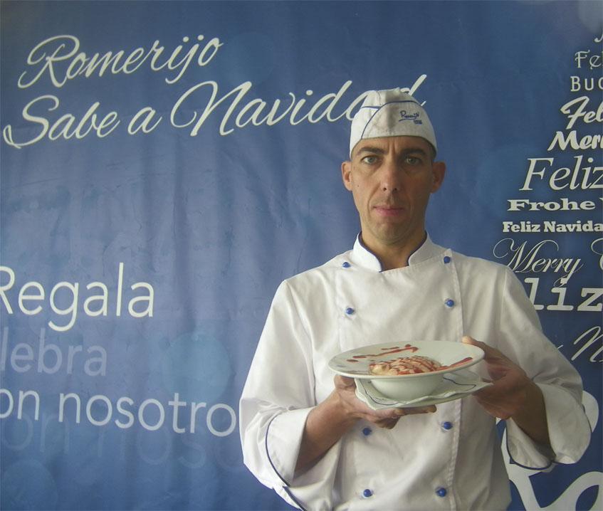 El cocinero Javier Montero, autor de la receta. Foto: Cosasdecome