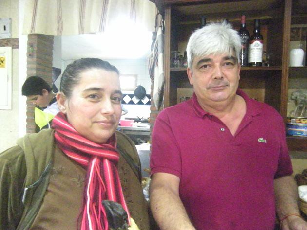 Juana Ríos y Manolo Jiménez