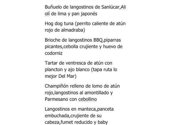 Menú homenaje a atún y langostinos en La Nueva Lonja de Sanlúcar