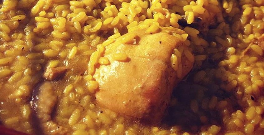 El arroz con pollo de la Venta La Palmera