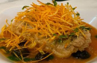 El bacalao con salsa de tomate del Restaurante La Piedra
