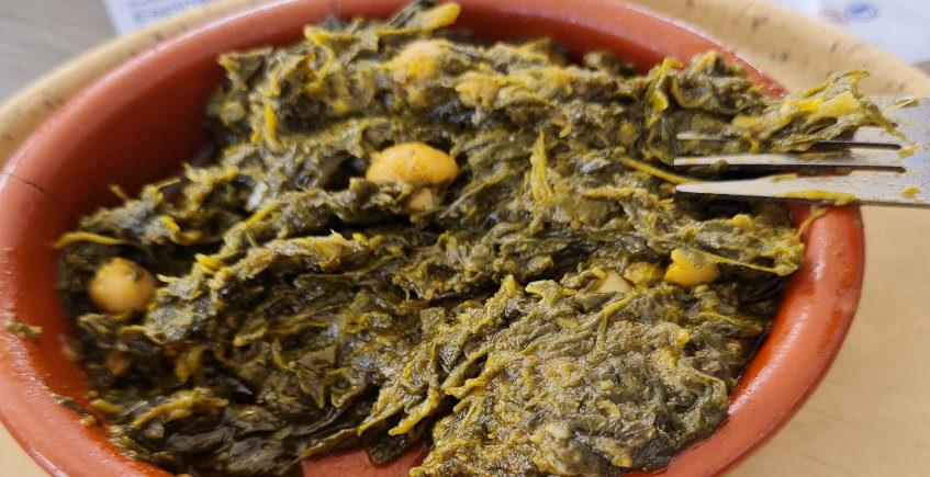 Las espinacas con garbanzos del Bar La Tabernita