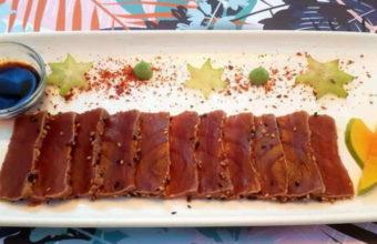 Los platos de atún rojo del Restaurante La Traiña de Zahora