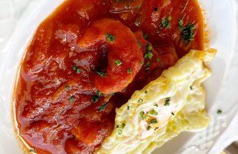 Los langostinos en tomate de Casa Bigote