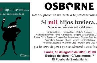 13 de agosto. El Puerto. Presentación del libro 'Si mil hijos tuviera'