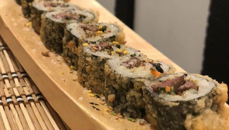 Los makis de solomillo a la trufa de Dhoma Natur Sushi