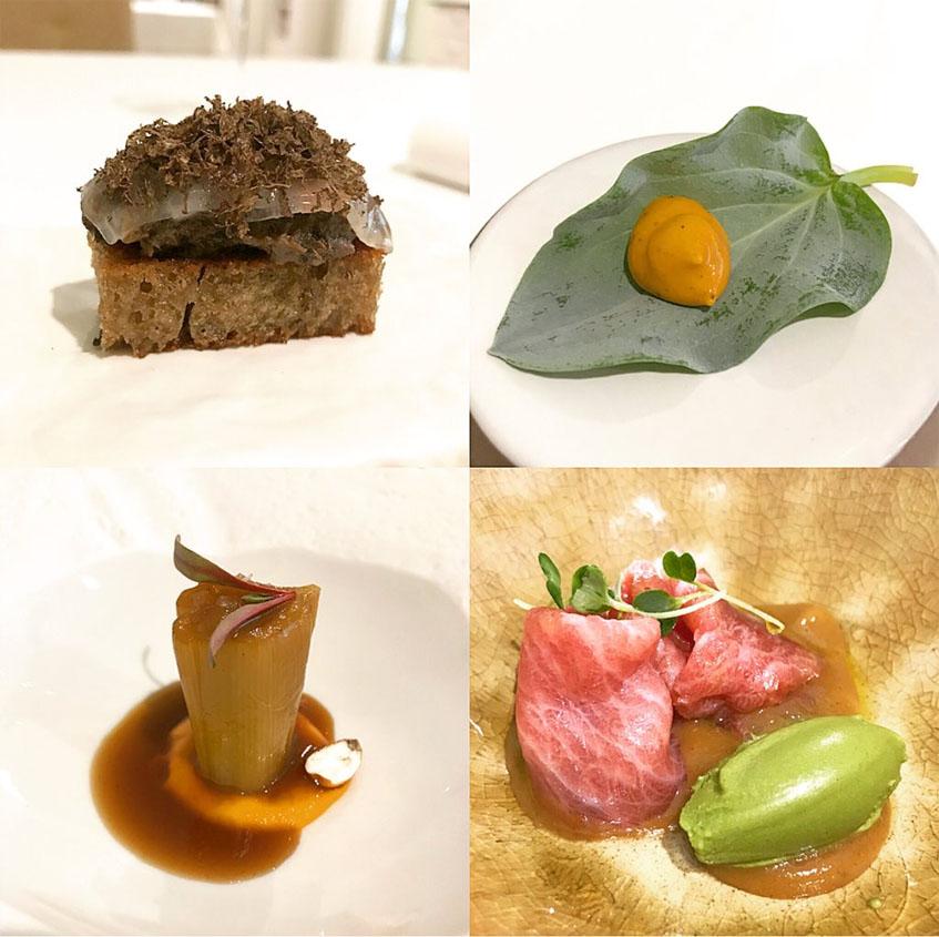 """Varios de los platos del menú """"Caliza"""" de Mantúa fotografiados por el tapatólogo Alvaro Muñoz."""