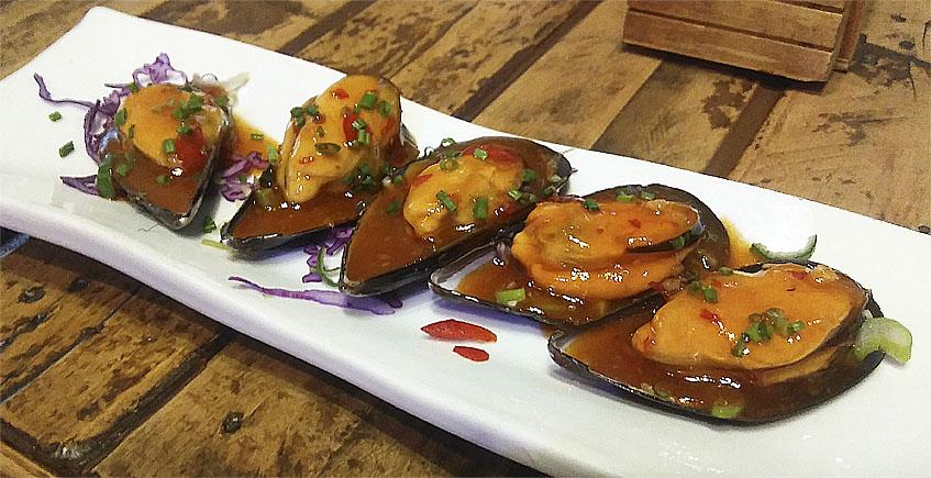 Los mejillones con vinagreta tailandesa de Atuvera