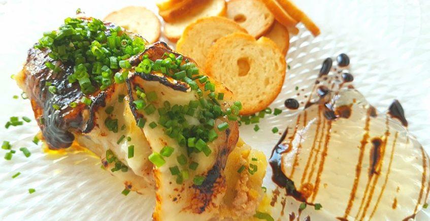 El milhojas de foie de La Lonja