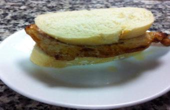El bocadillo de filete de lomo del Bar En lo de Ramón