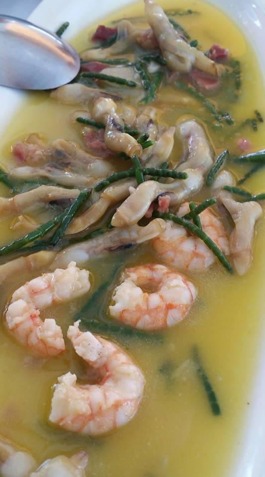 El plato de muergos, langostinos, jamón y salicornia de Avante Claro fotografiado por el tapatólogo David de Melo.