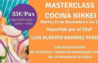 21 de noviembre. Cádiz. Masterclass de cocina nikkei
