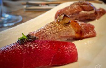 El niguiri de morrillo de atún de Cooking Almadraba