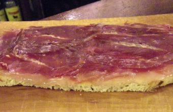 El pan de la casa de La Bodeguilla del Bar Jamón