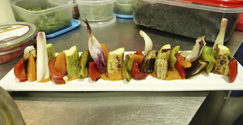 La parrillada de verduras de Aplomo