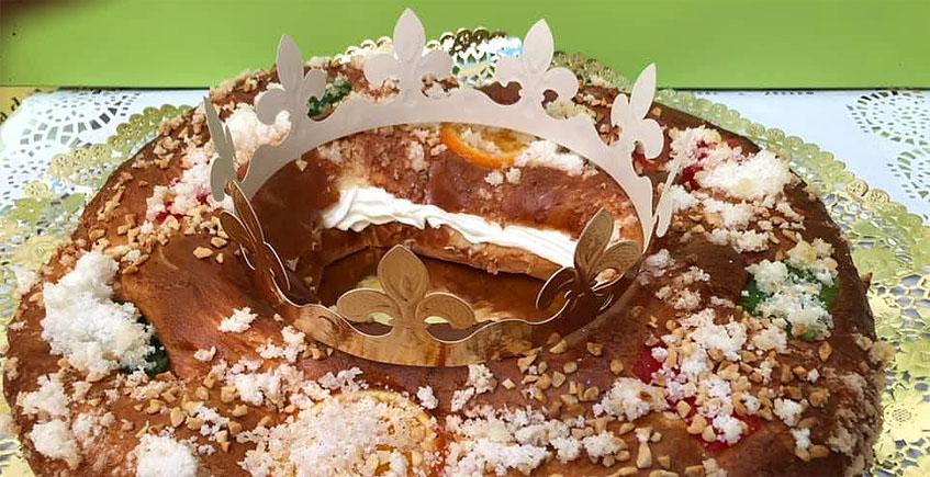 El roscón de Reyes de la confitería Juan Moreno