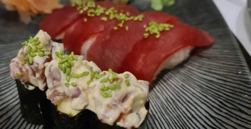 El sushi de Plato al centro