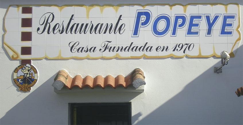 La carta completa del Restaurante Popeye