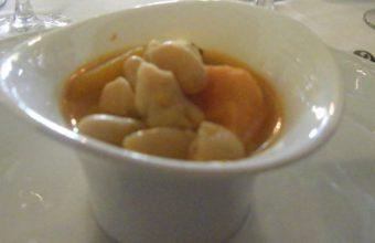 Potaje de habichuelas blancas con castañas