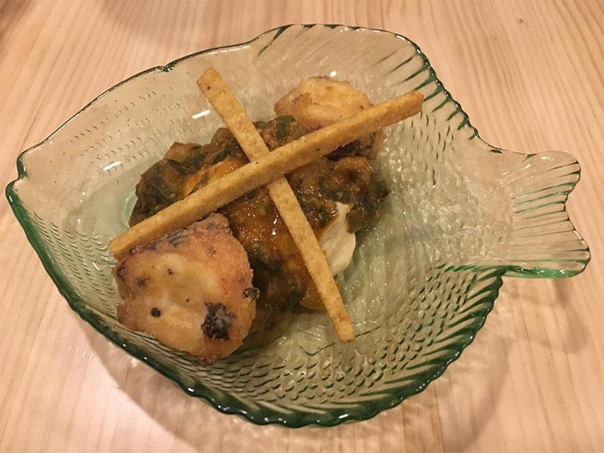 El pulpo frito de Caraméló fotografiado por la tapatóloga María Luisa Ucero.