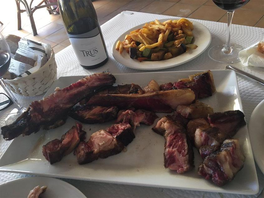 La carne gallega de Casa Blas fotografiada por el tapatólogo Manolo Dominguez.