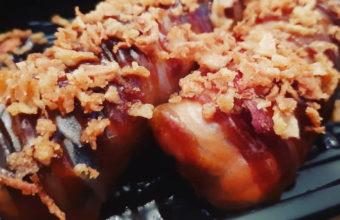 Los rollitos de pato confitado de Okado Sushi Bar
