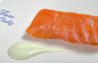 Los rollitos de salmón del Restaurante El Faro
