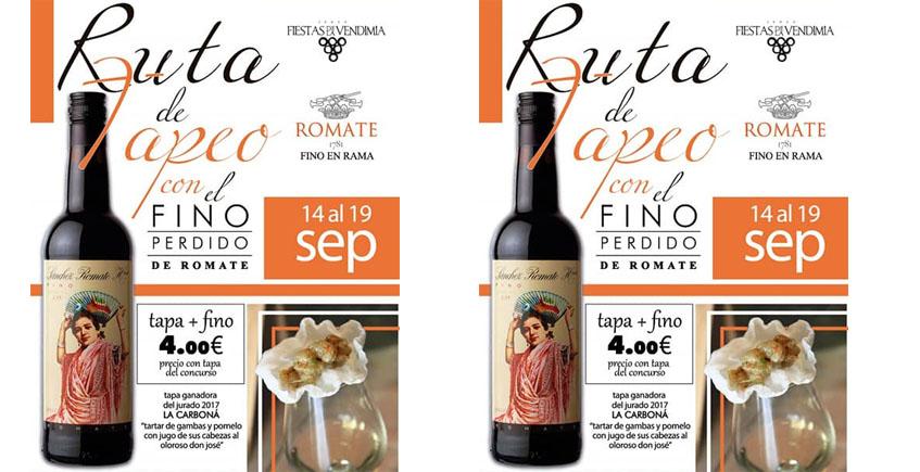 Del 14 al 19 de septiembre: Ruta del tapeo con Fino Pérdido en Jerez