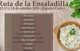 Del 12 al 14 de octubre, ruta de la ensaladilla en Espera
