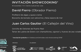 18 de noviembre. Puerto Real. Cocina en vivo en el Centro Cultural San José