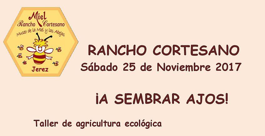25 y 26 de noviembre. Jerez. Talleres de sembrado de ajos y apicultura en Rancho Cortesano