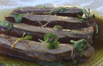 El sashimi de atún con anchoas de La Espartería