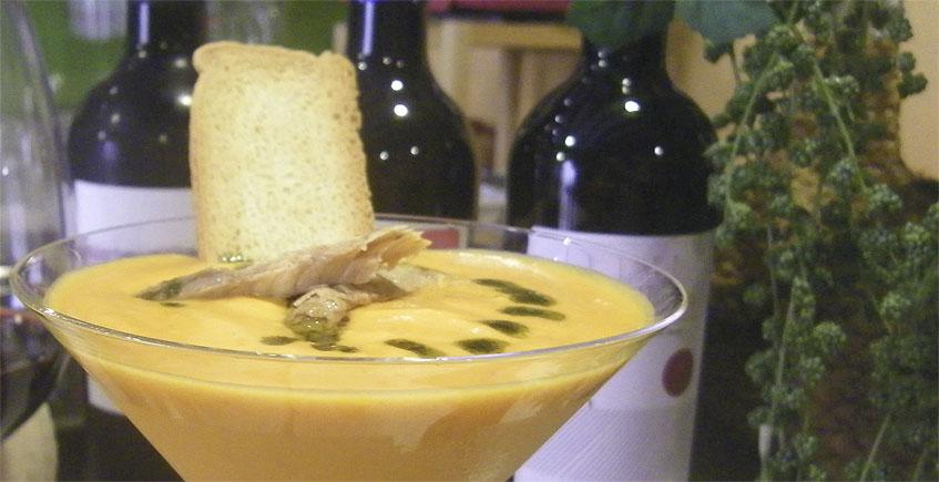 El salmorejo de queso del mesón Casa Antonio
