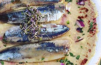 Las sardinas con hummus de Verbena