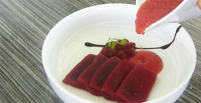 El semisalmorejo de fresas de Variopinto