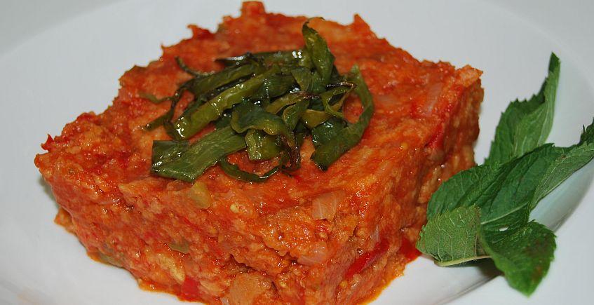 Sopa de tomate y hierbabuena
