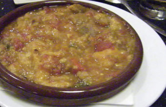 La sopa tomate de El Patio de Benitez