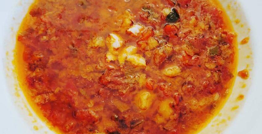 La sopa de tomate y gambas de Casa Ricardo