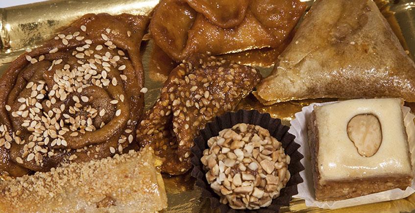 El surtido de dulces andalusís de Xauen